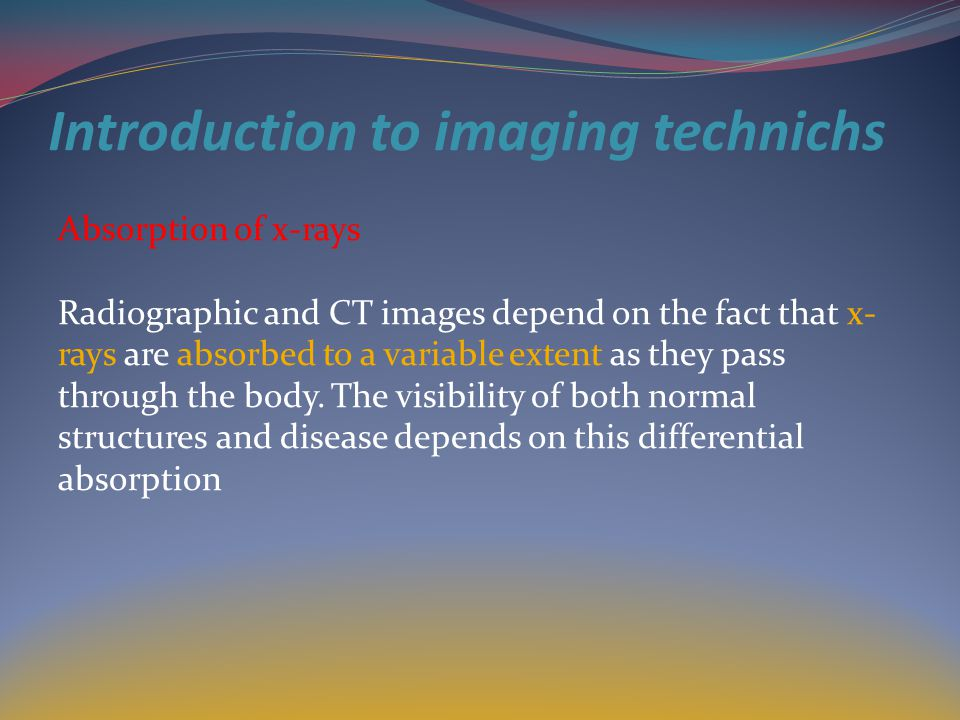 Introduction to imaging technichs