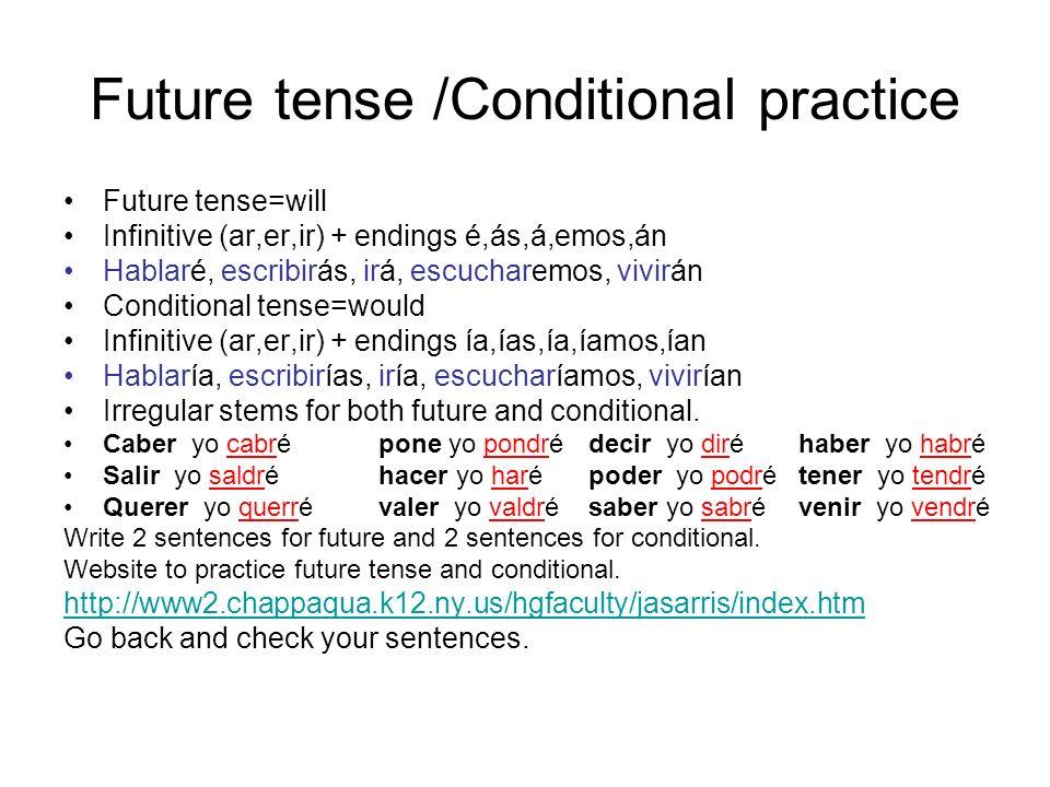 Future tense /Conditional practice