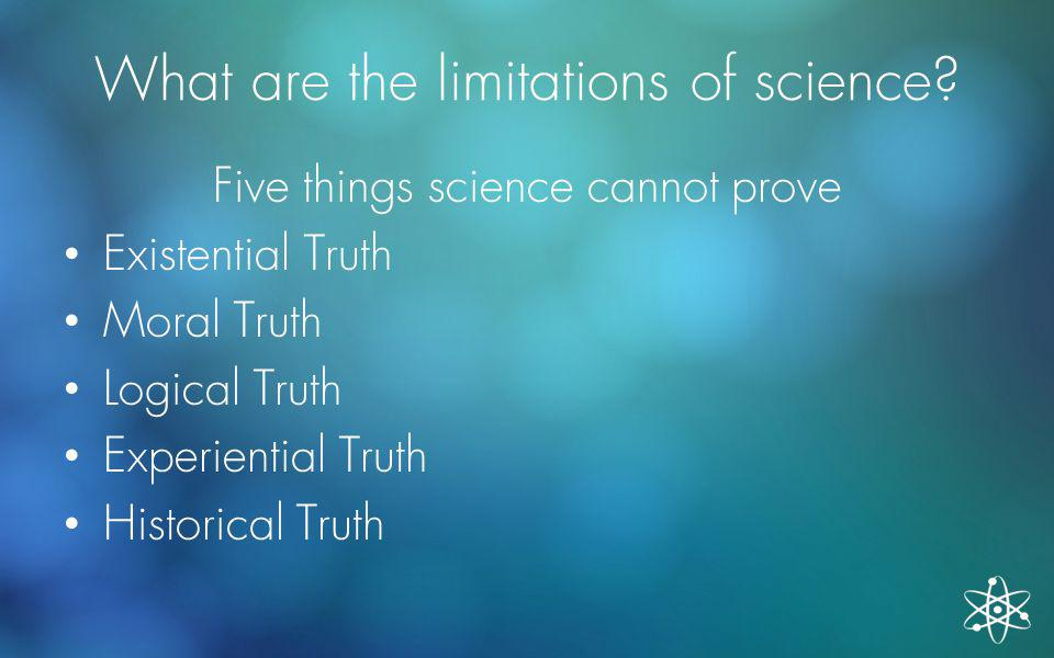 What are the limitations of science