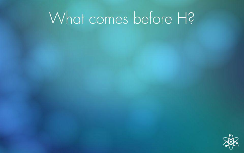 What comes before H