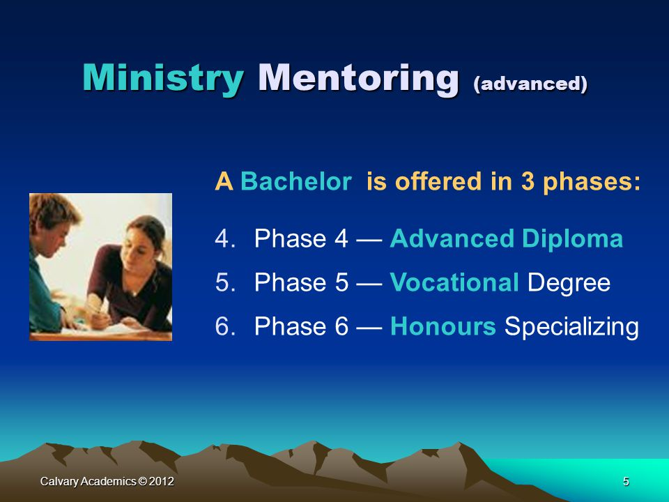 Ministry Mentoring (advanced)