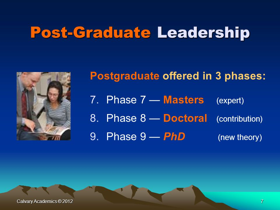 Post-Graduate Leadership