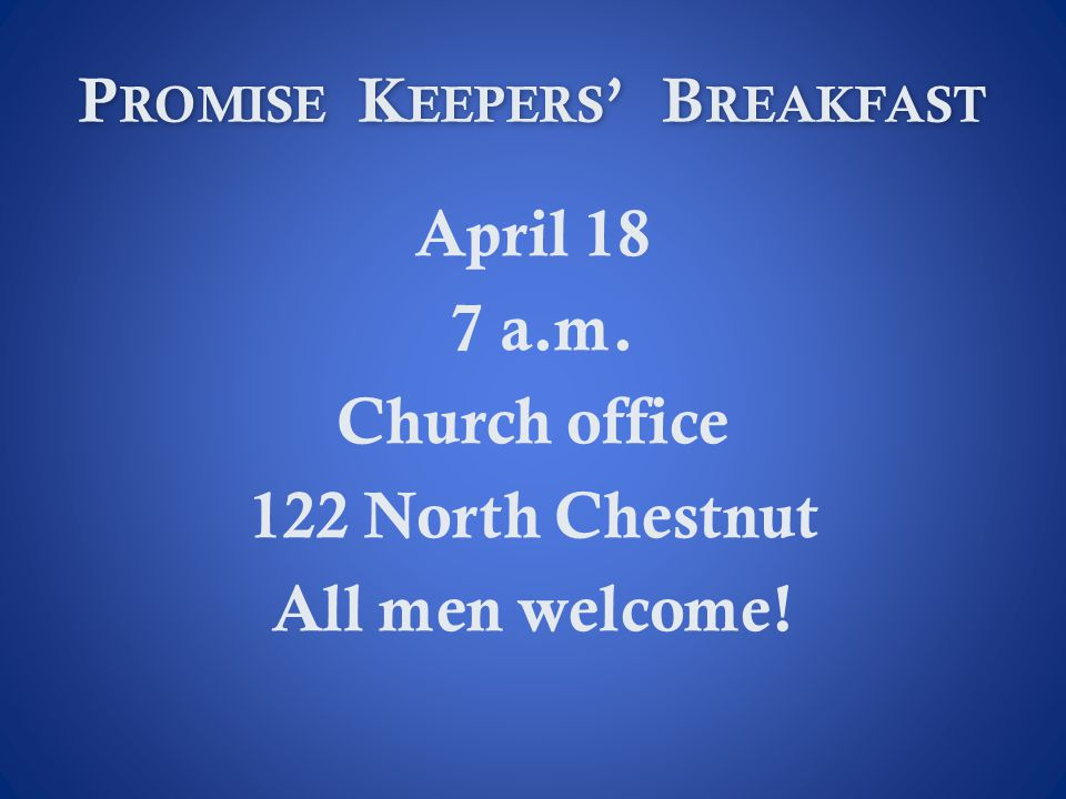 Promise Keepers' Breakfast