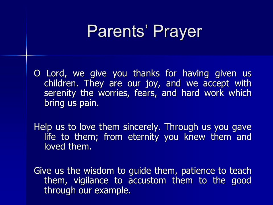 Parents' Prayer