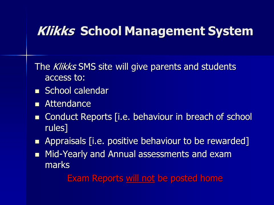 Klikks School Management System