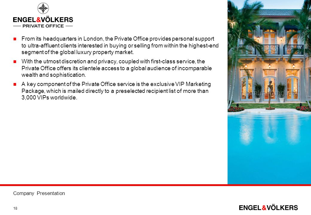 From its headquarters in London, the Private Office provides personal support to ultra-affluent clients interested in buying or selling from within the highest-end segment of the global luxury property market.