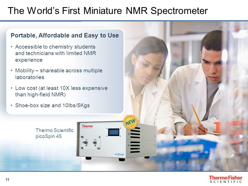 The World's First Miniature NMR Spectrometer
