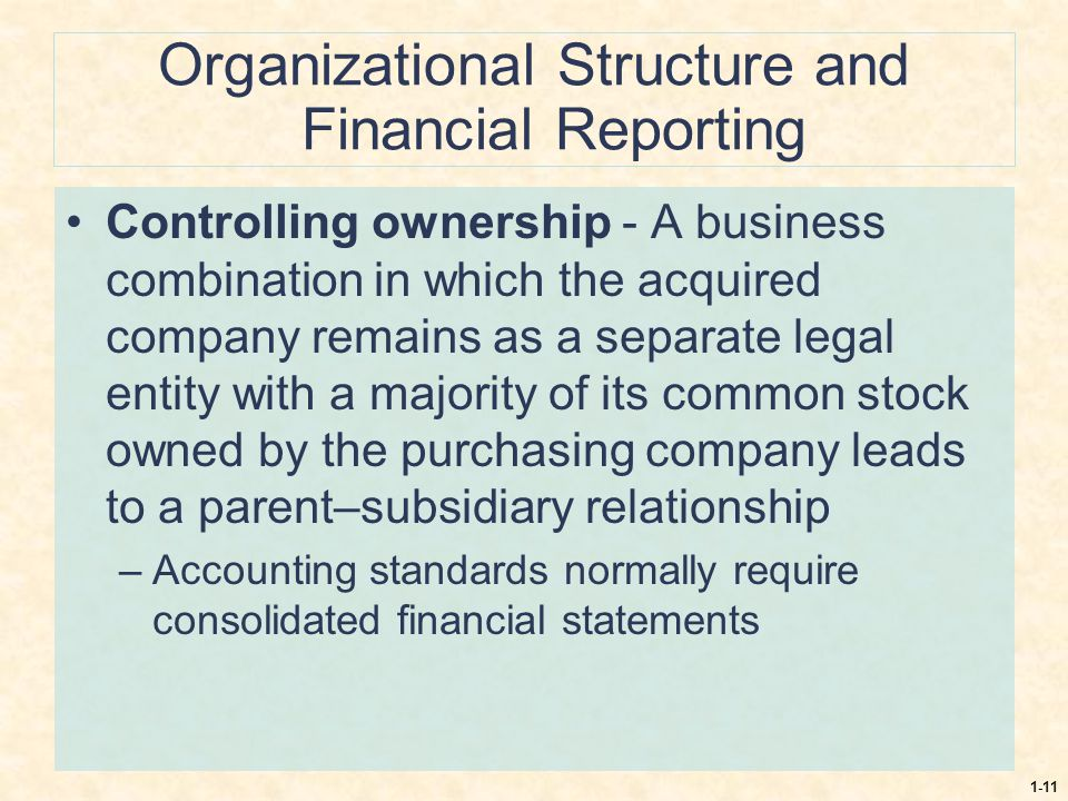 Organizational Structure and Financial Reporting