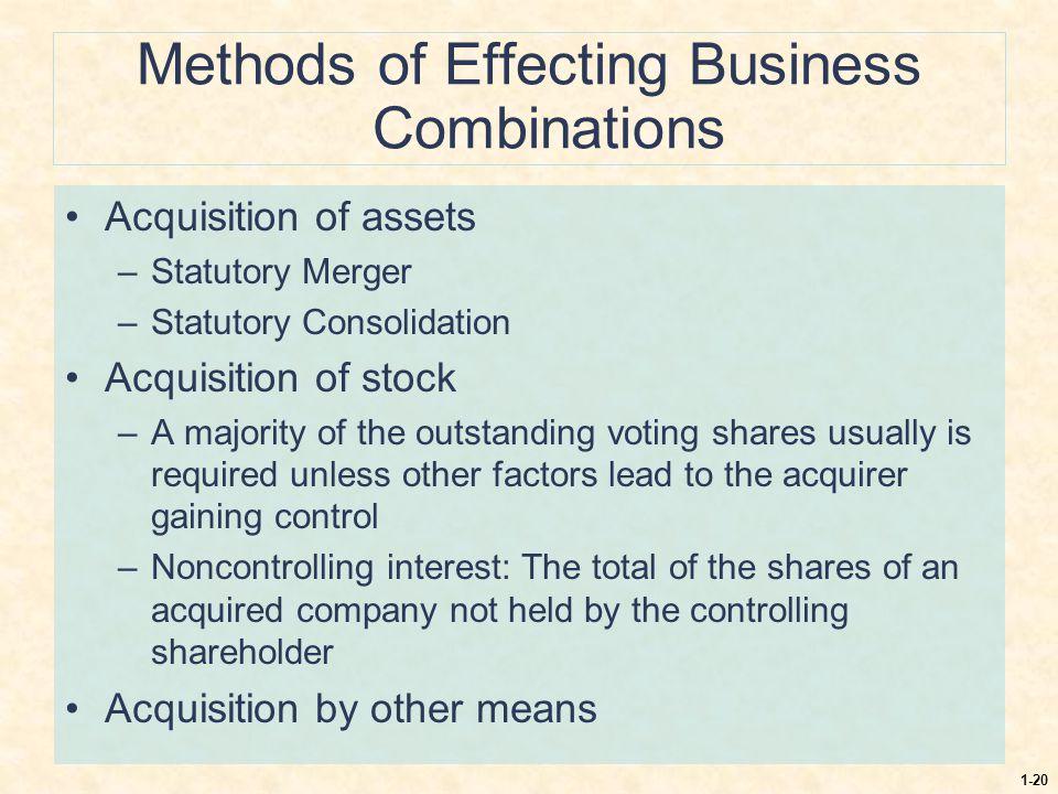Methods of Effecting Business Combinations