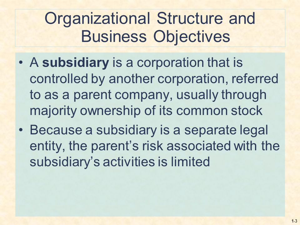 Organizational Structure and Business Objectives