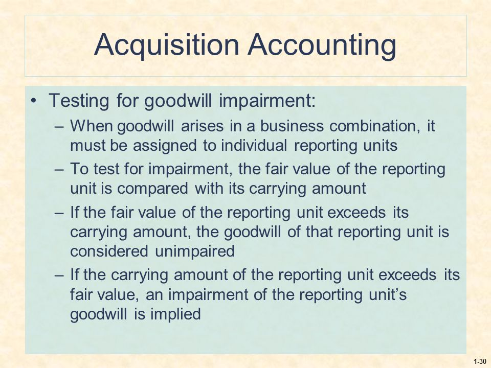 Acquisition Accounting