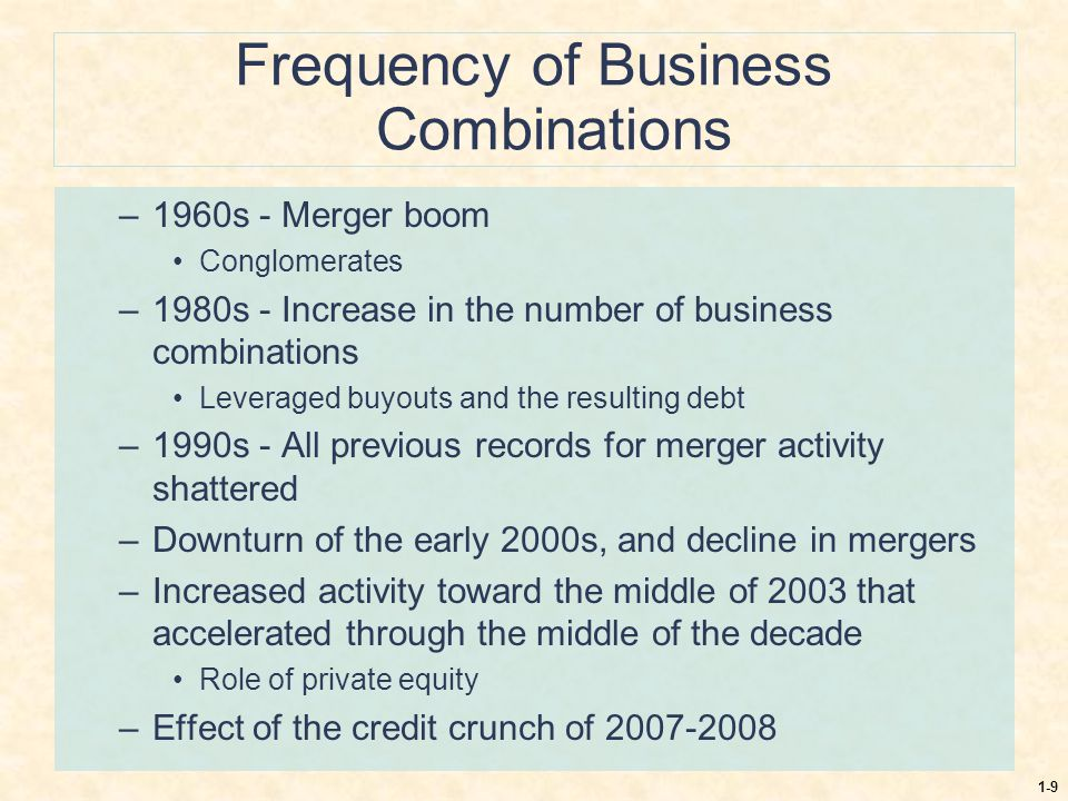 Frequency of Business Combinations