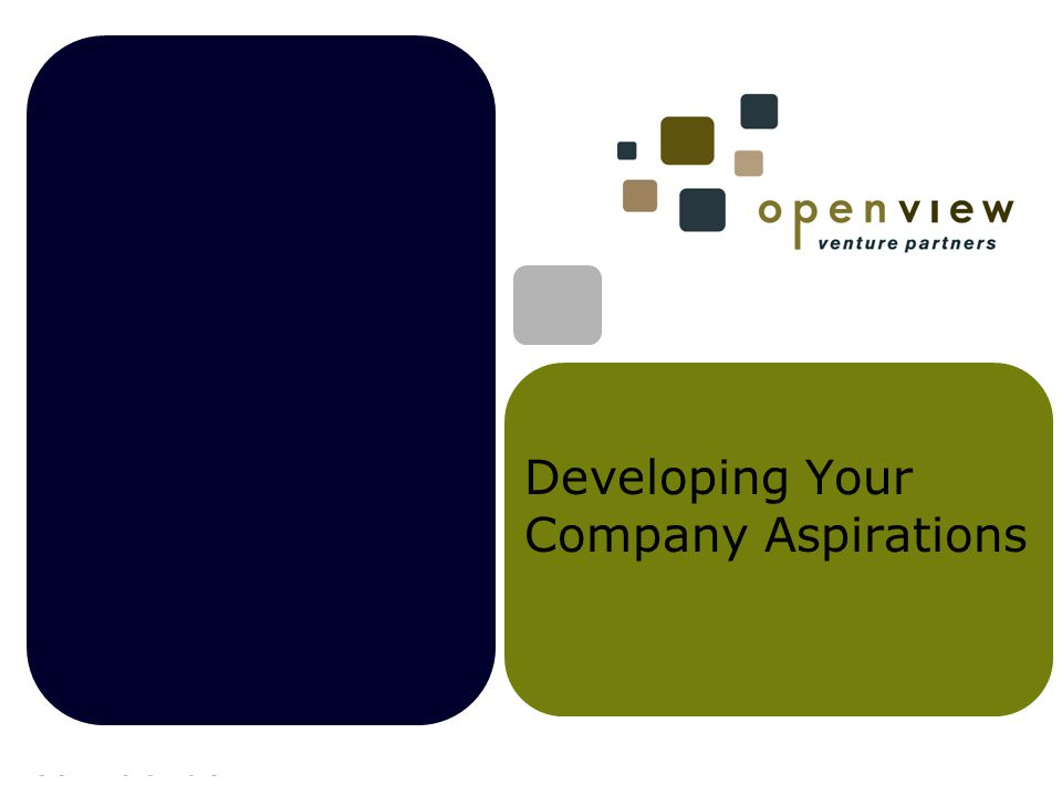 Developing Your Company Aspirations