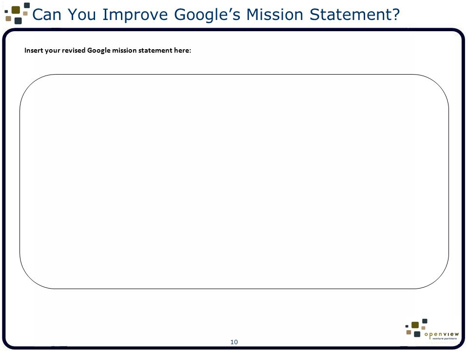 Can You Improve Google's Mission Statement