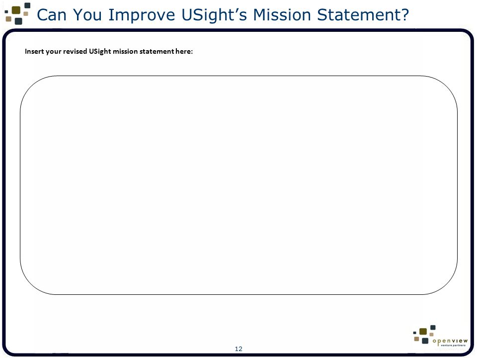 Can You Improve USight's Mission Statement