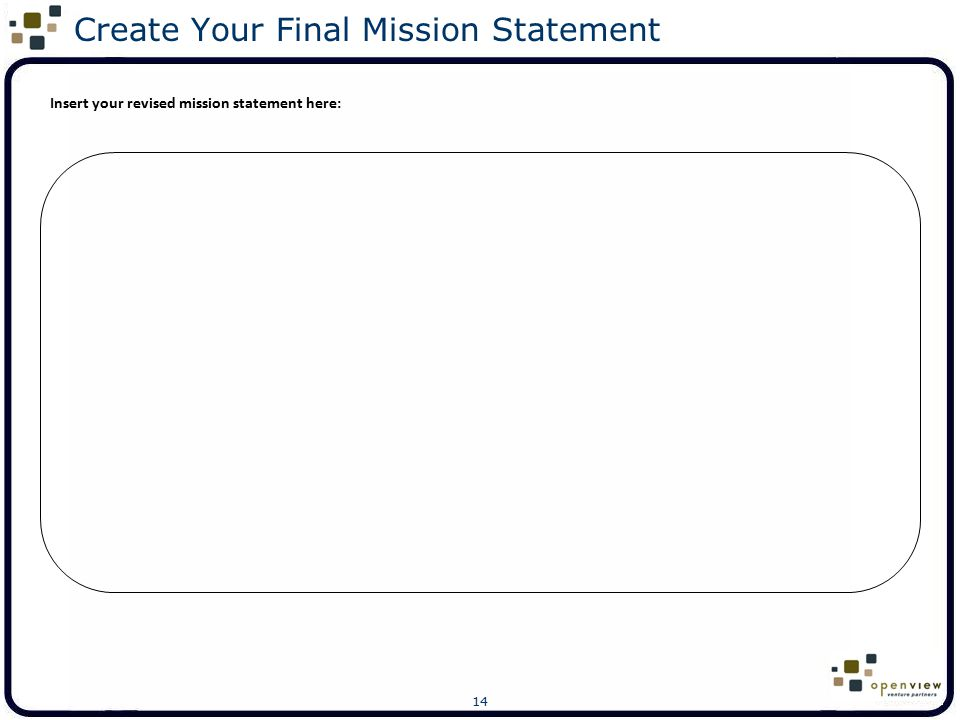 Create Your Final Mission Statement