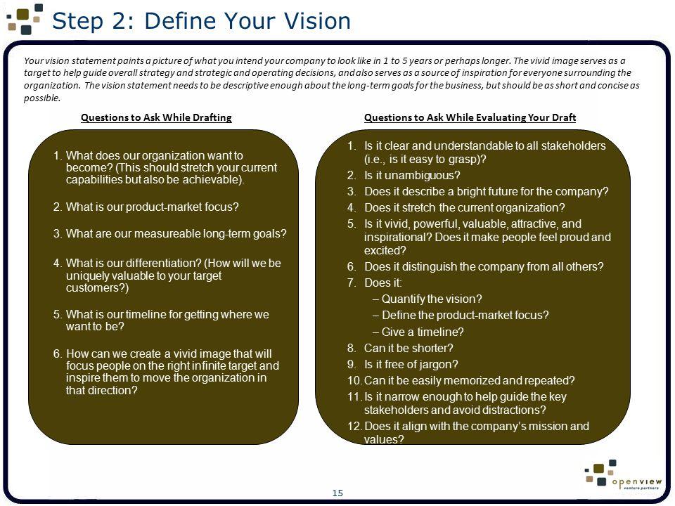 Step 2: Define Your Vision