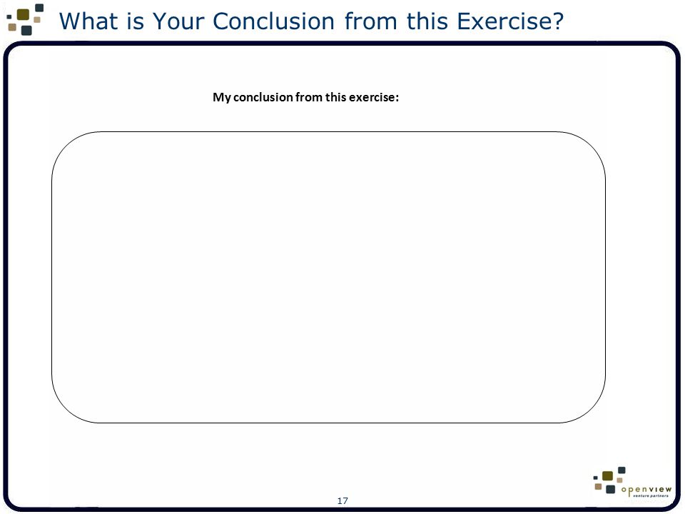 What is Your Conclusion from this Exercise