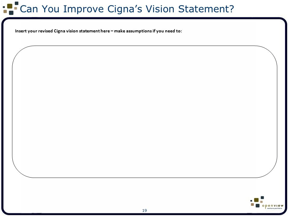 Can You Improve Cigna's Vision Statement