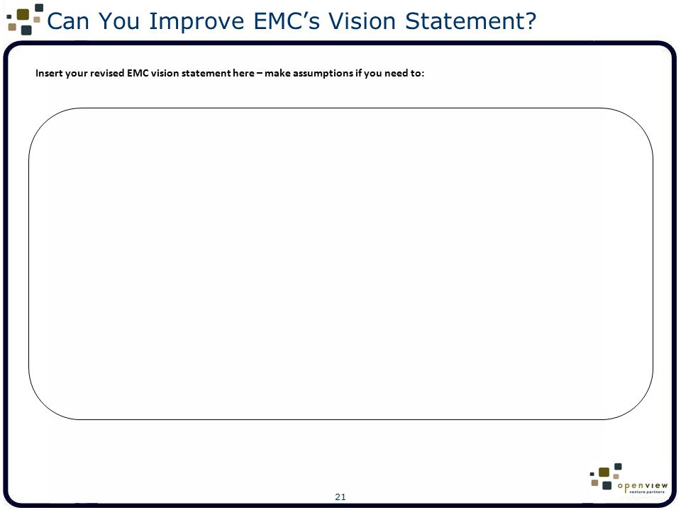 Can You Improve EMC's Vision Statement