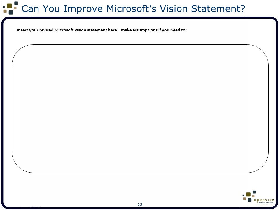 Can You Improve Microsoft's Vision Statement
