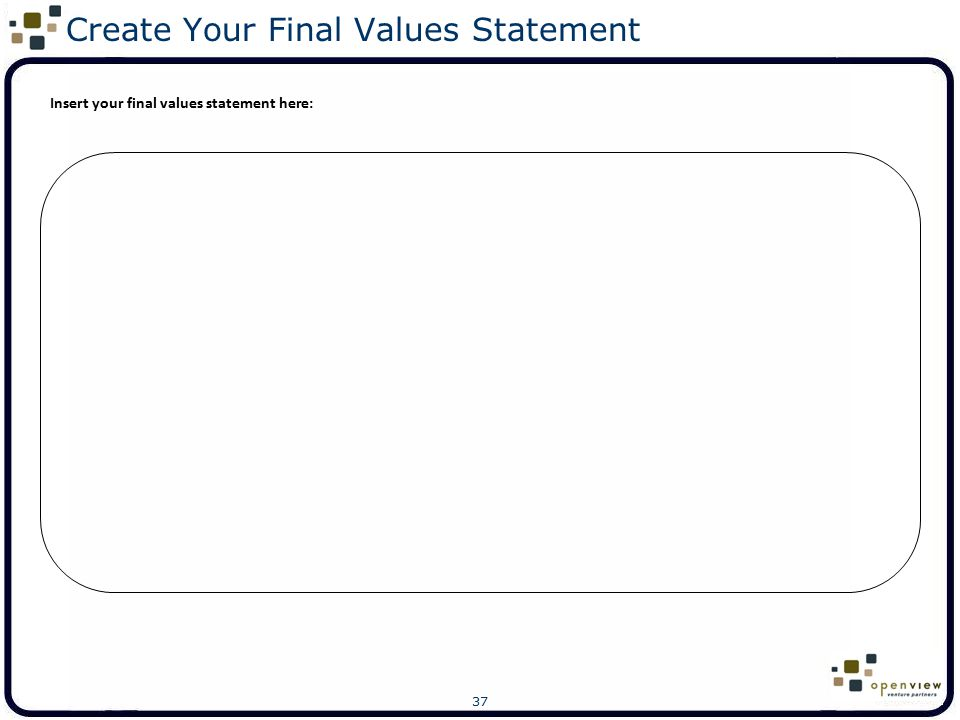 Create Your Final Values Statement