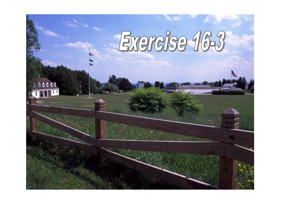 Exercise 16-3