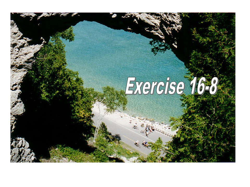 Exercise 16-8