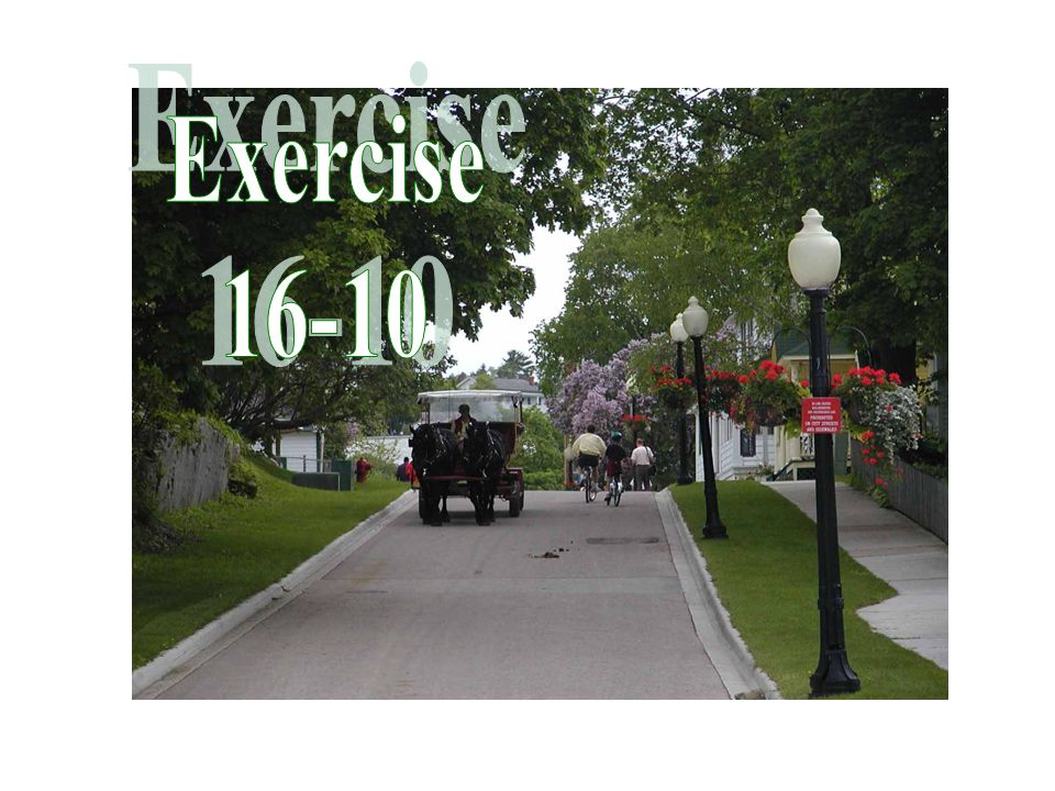 Exercise 16-10