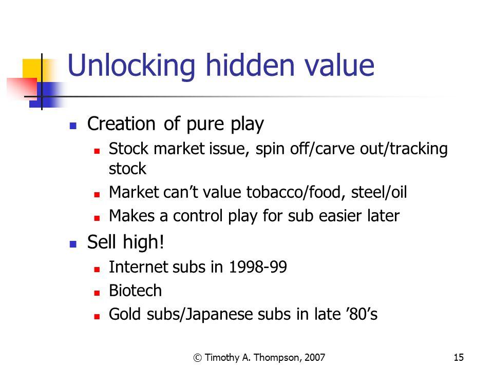 Unlocking hidden value