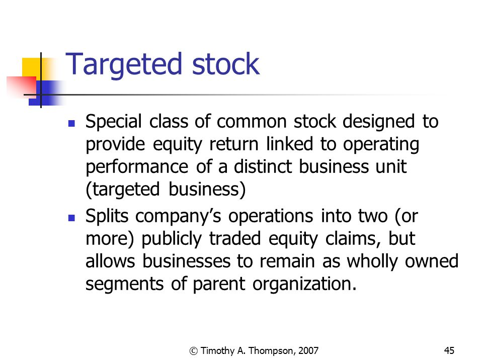 Targeted stock