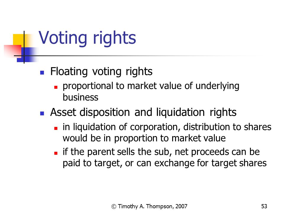 Voting rights Floating voting rights