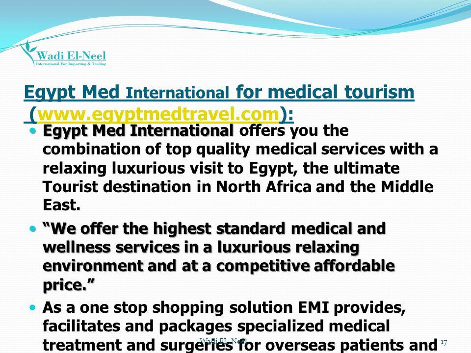 Egypt Med International for medical tourism (www.egyptmedtravel.com):