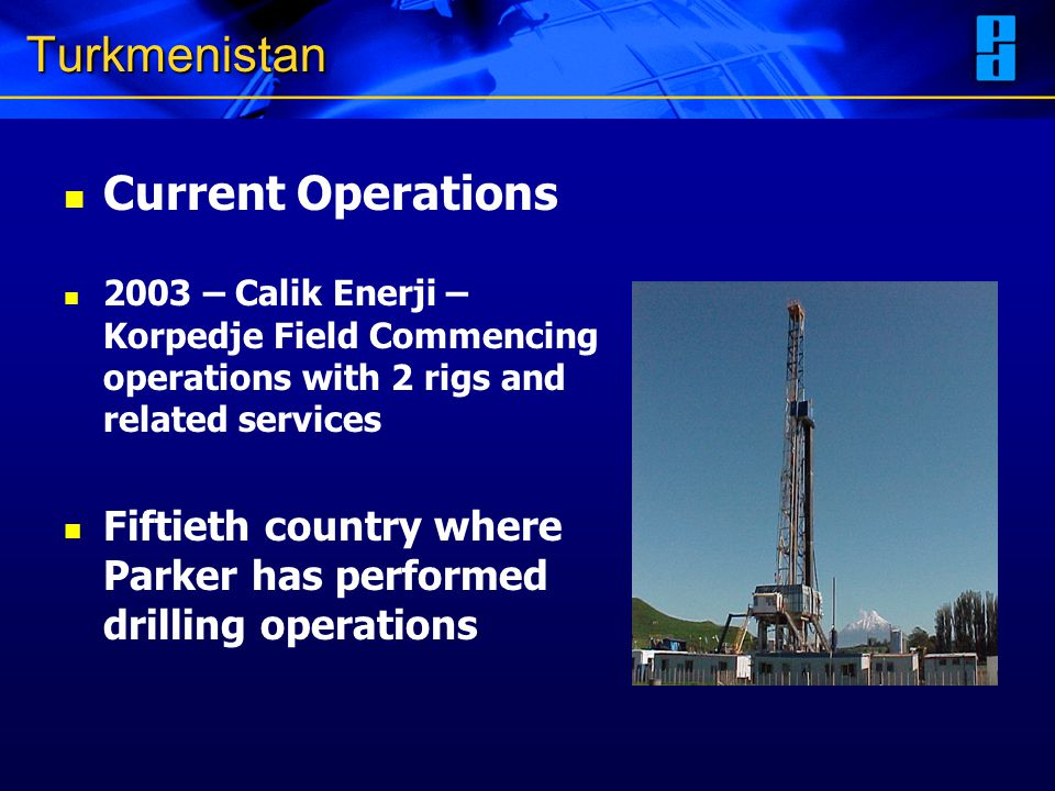Turkmenistan Current Operations