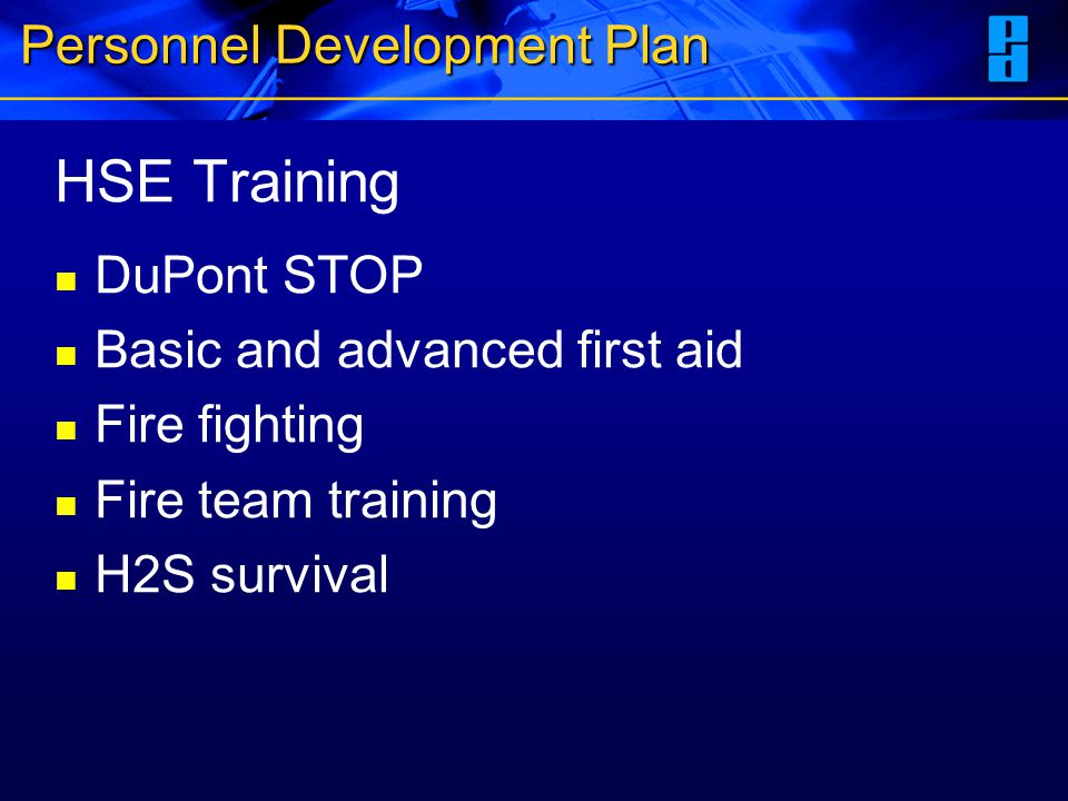 Personnel Development Plan