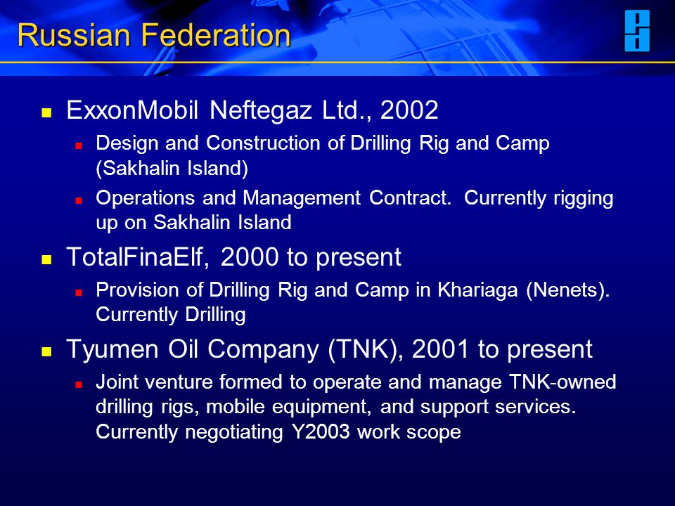 Russian Federation ExxonMobil Neftegaz Ltd., 2002