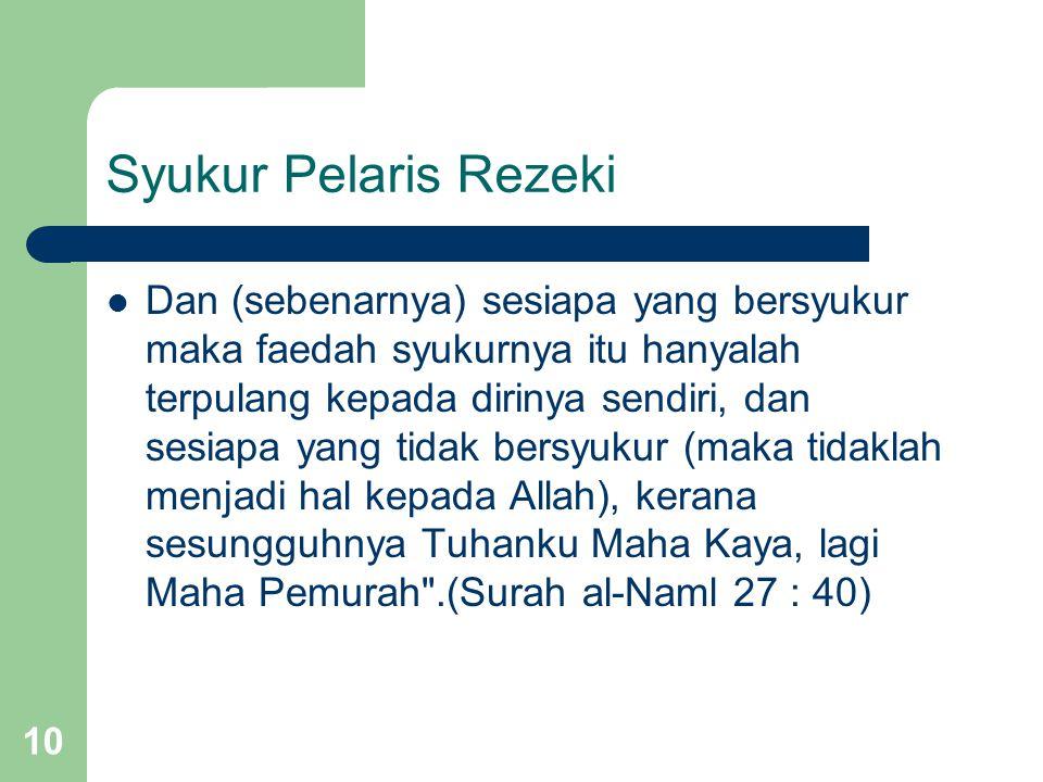 Syukur Pelaris Rezeki