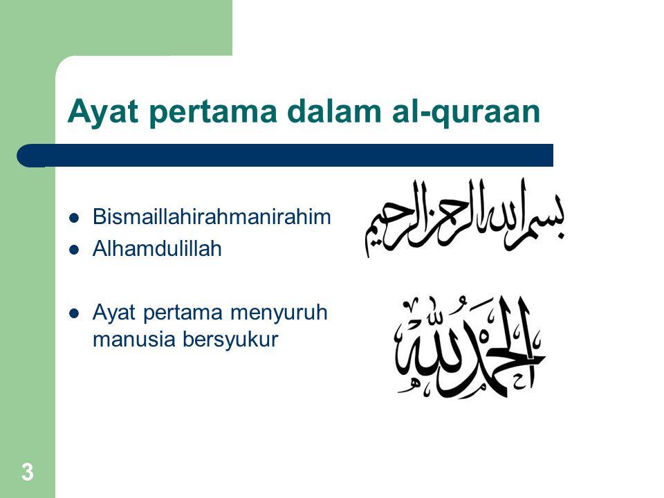 Ayat pertama dalam al-quraan