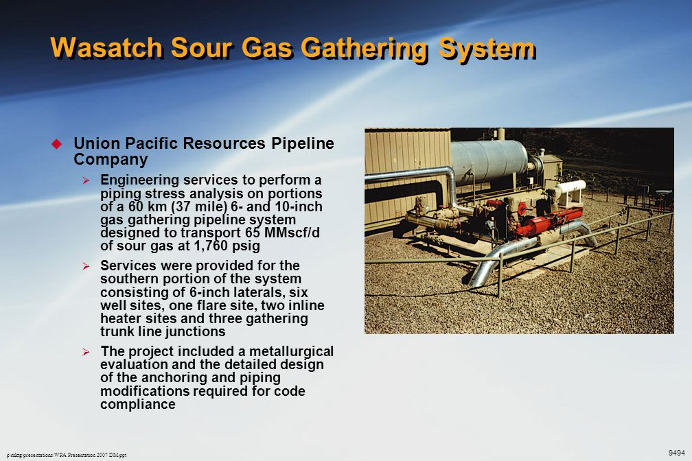 Wasatch Sour Gas Gathering System