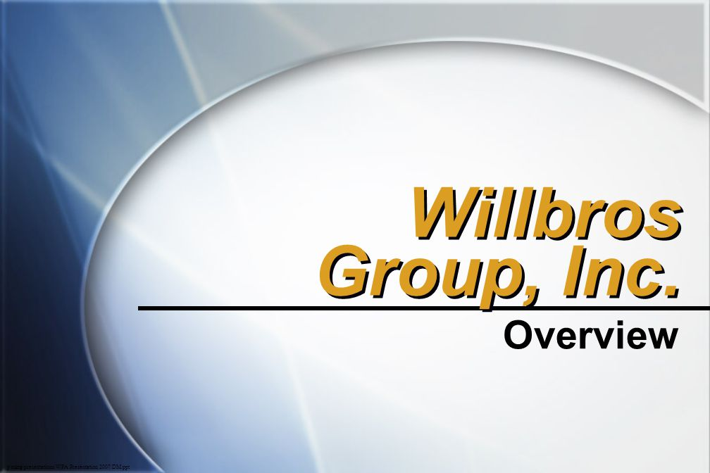 Willbros Group, Inc. Overview