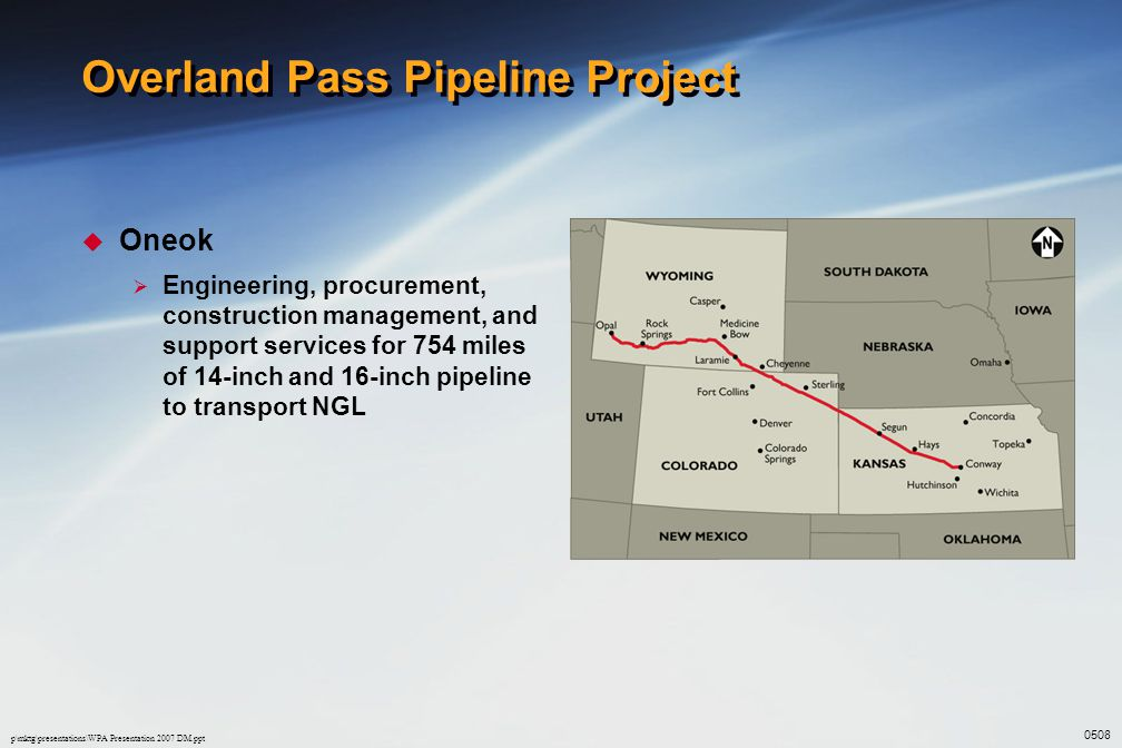 Overland Pass Pipeline Project