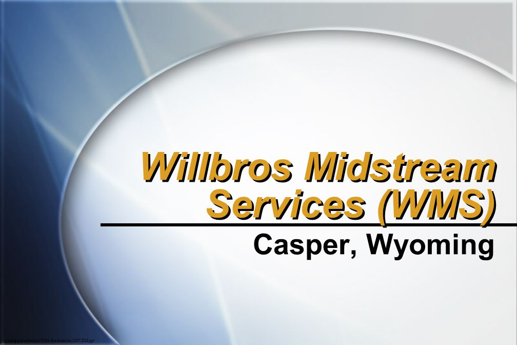 Willbros Midstream Services (WMS)