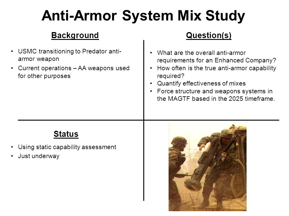Anti-Armor System Mix Study