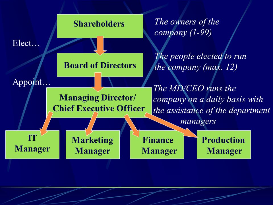 Managing Director/ Chief Executive Officer