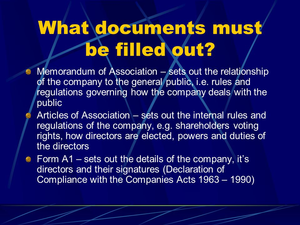 What documents must be filled out
