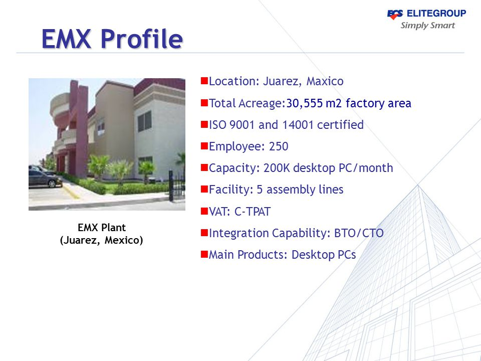 EMX Profile Location: Juarez, Maxico