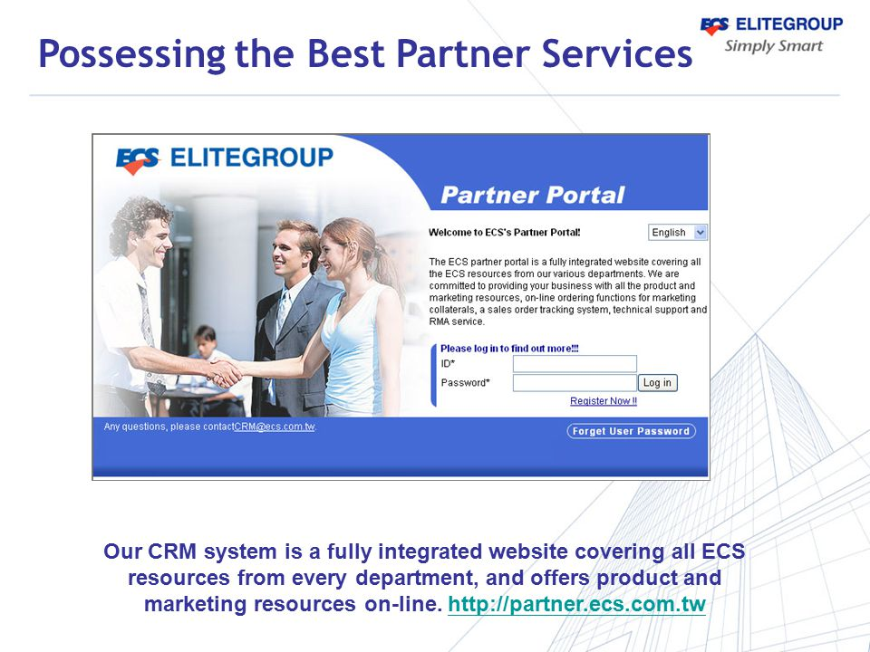 marketing resources on-line. http://partner.ecs.com.tw