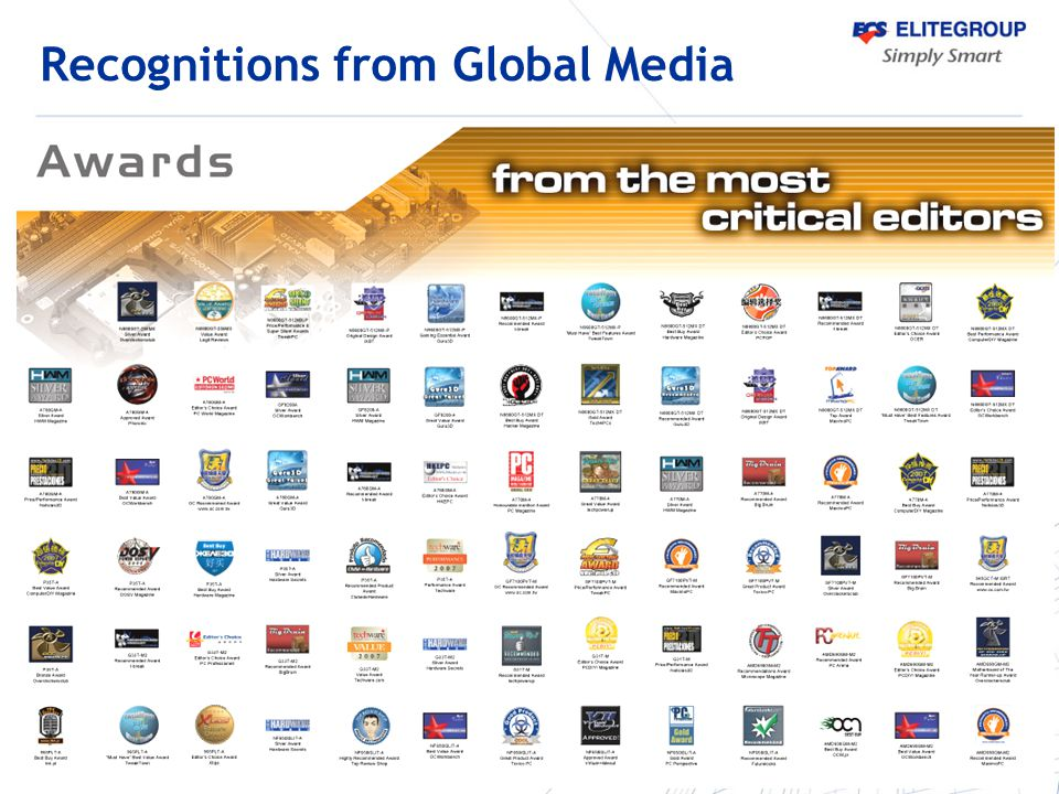 Recognitions from Global Media
