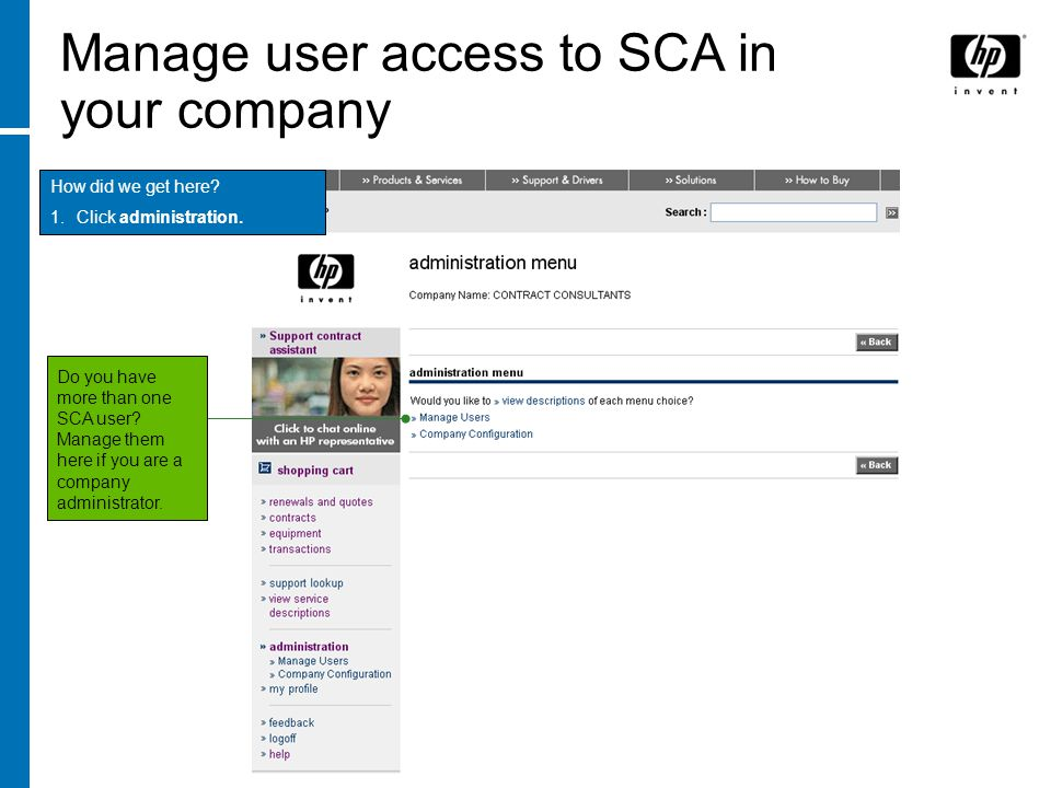 Manage user access to SCA in your company
