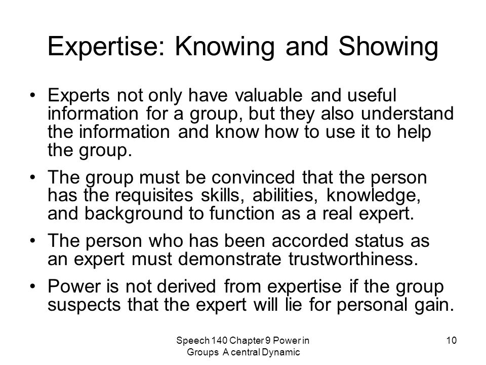 Expertise: Knowing and Showing